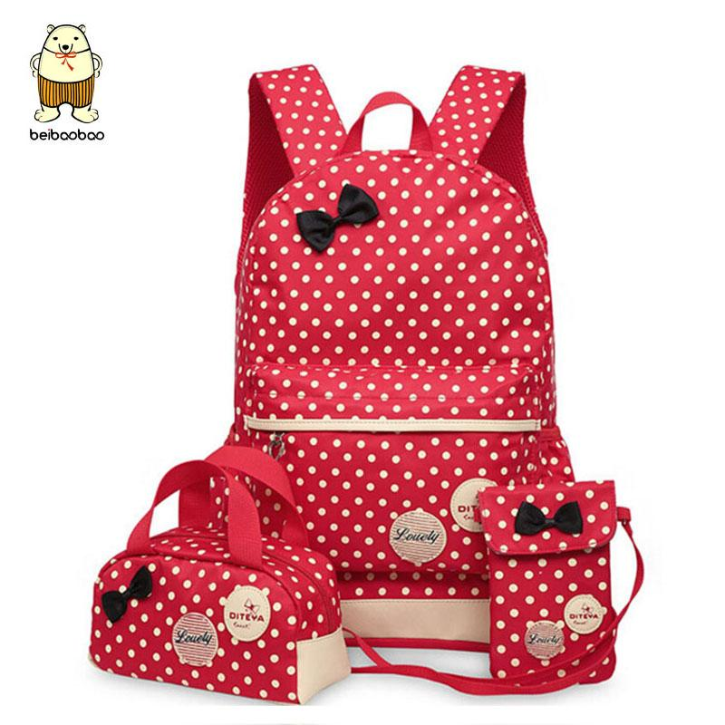 Beibaobao School Bags For Teenagers Girls Backpack Set Women ... d4a3c839ab4da