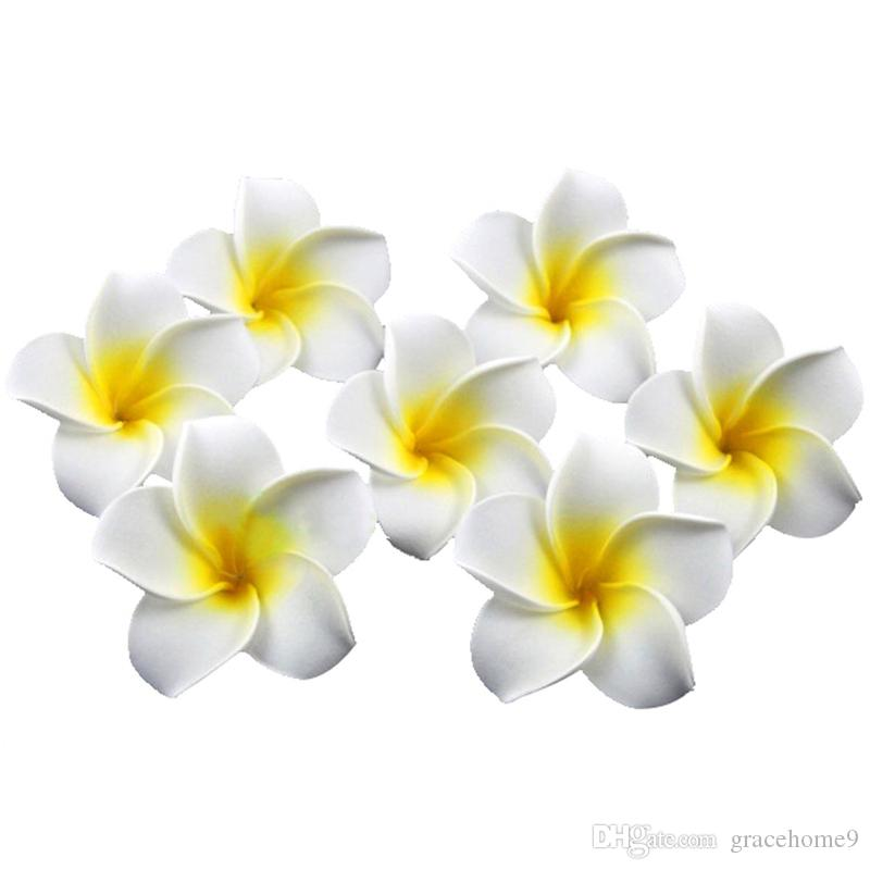 Wholesale - hair accessories Hawaiian plumeria hairpin side chuck Fashion Hawaiian Plumeria Flower Foam Hair Clip New