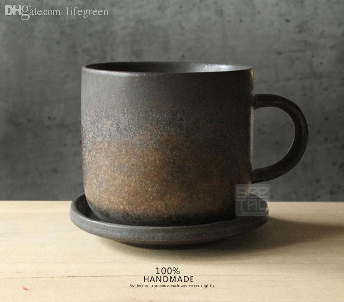 wholesale creative metal glaze zen designer coffee cup cup oil