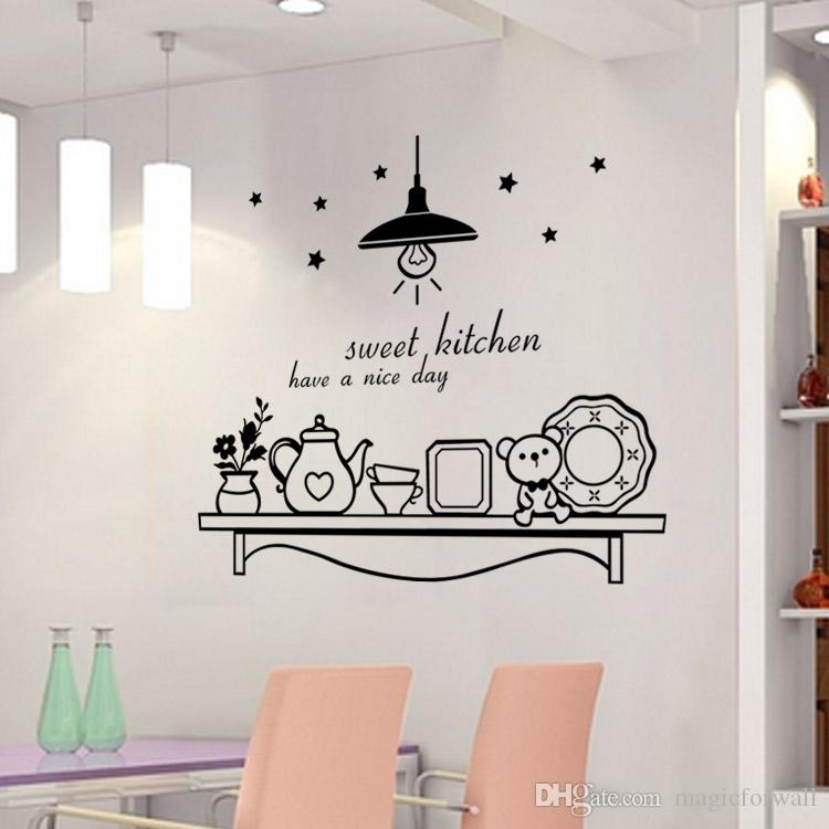 sweet kitchen have a nice day wall sticker decoration wall art murals sticker decor sticker decor for walls from magicforwall 176 dhgatecom - Kitchen Wall Art