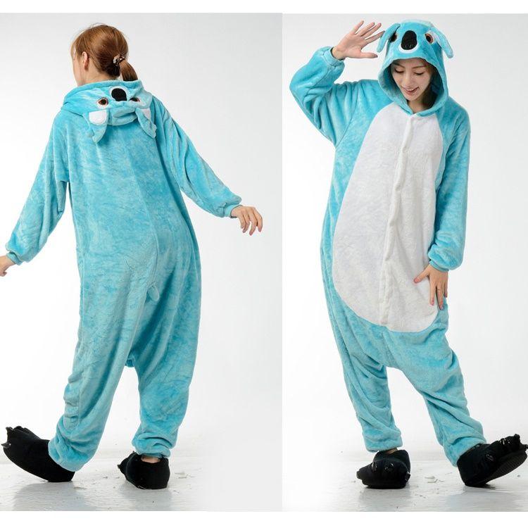 53cc7d6bf841 2019 Koala Blue Women Sleepwear Animal Onesies Pajamas Adults Animal  Cosplay Costumes Onesies Jumpsuit Romper Fleece Onesies Pajamas Kigurumi  From ...