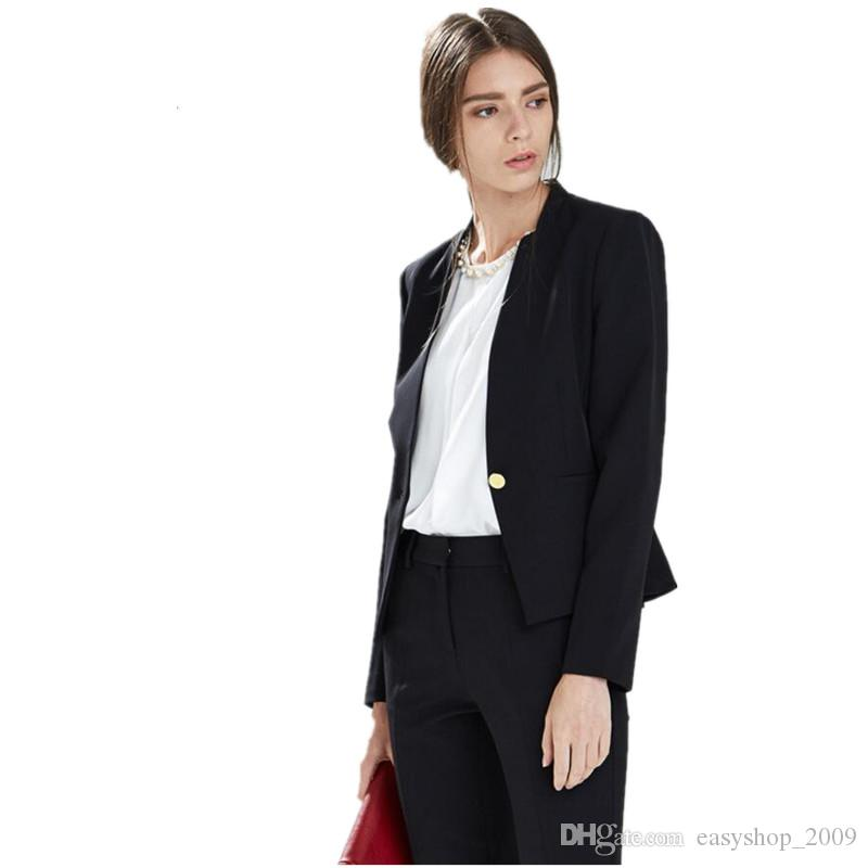 New Autumn Bussiness Formal Elegant Women Suit Set Blazers And Pants Office Suits Ladies Pants Suits Trouser Suits