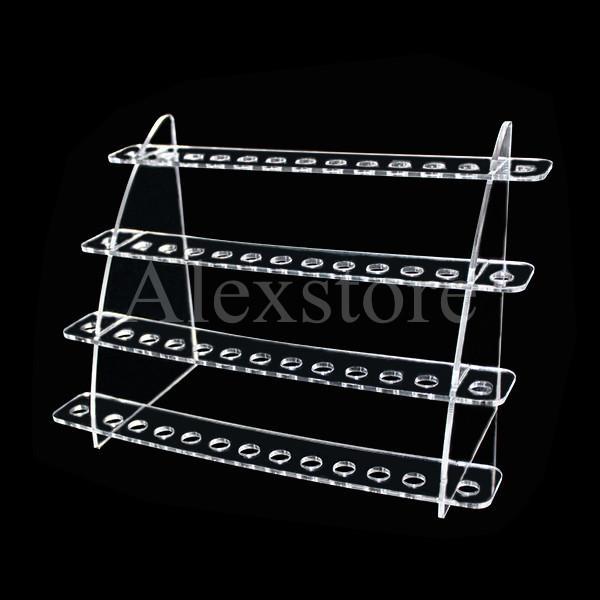 Mixed styles Acrylic e cig display clear stand shelf holder base vape rack box show case for mini battery ecig atomizer ego 510 drip tips