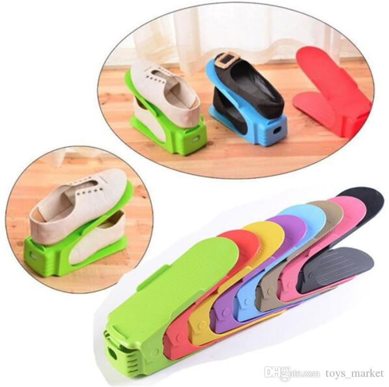Scarpiera Storage Wholesale Regolabile Home Use Modern Double Shoes Rack Soggiorno Comodo Shoe Box Organizer Stand Shelf