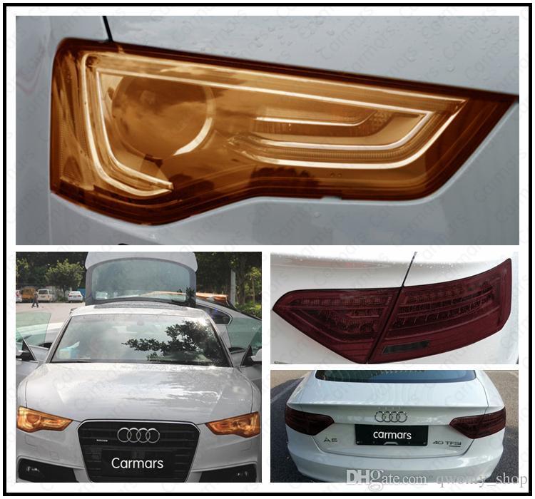 "Wholesale 30cmx1m/12""x40"" Auto Car Sticker Smoke Fog Light HeadLight Taillight Tint Vinyl Film Sheet Car Decoration Decals"