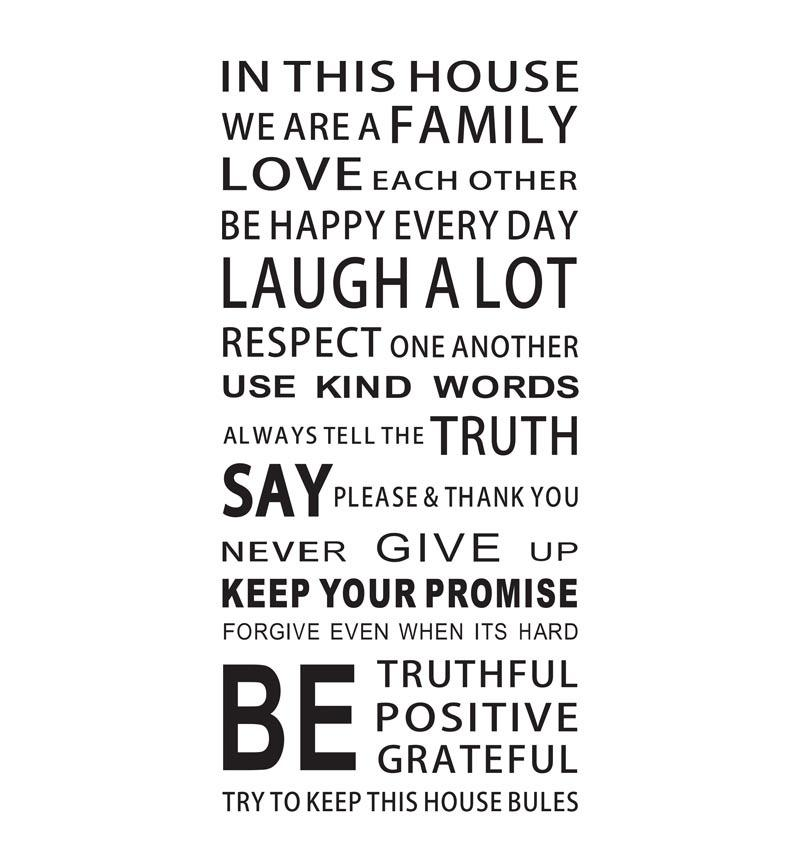 in this house we are a family wall decal zooyoo8272 living room