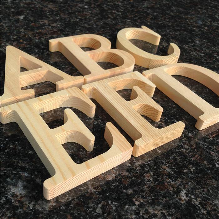 Pine Wooden Letter Tag Natural Color Diy Christmas Decorations ...