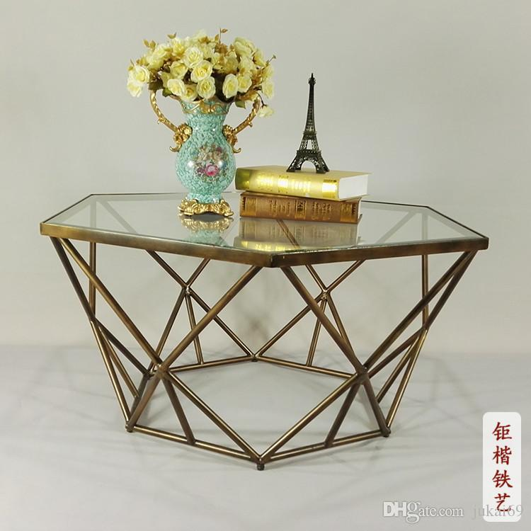 Chinese Style Restoring Ancient Ways,Wrought Iron Furniture,Round Tea Table,Glass  Coffee Table,Wrought Iron Tea Table
