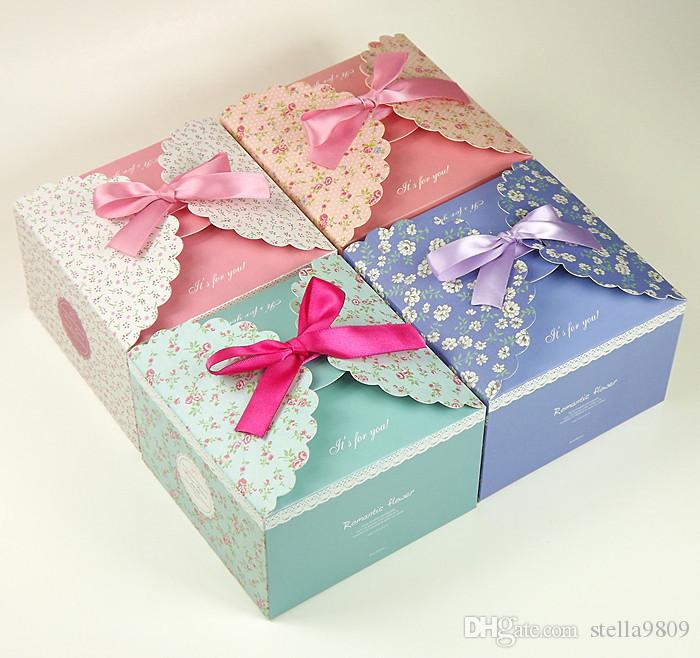 Small Broken Flower Green Cake Box Cake Decorations Wholesale Korean Pink Small Broken Flower Birthday Cake Gift Box Party Supplies H01 Wrapping Paper Sets ... & Small Broken Flower Green Cake Box Cake Decorations Wholesale ... Aboutintivar.Com