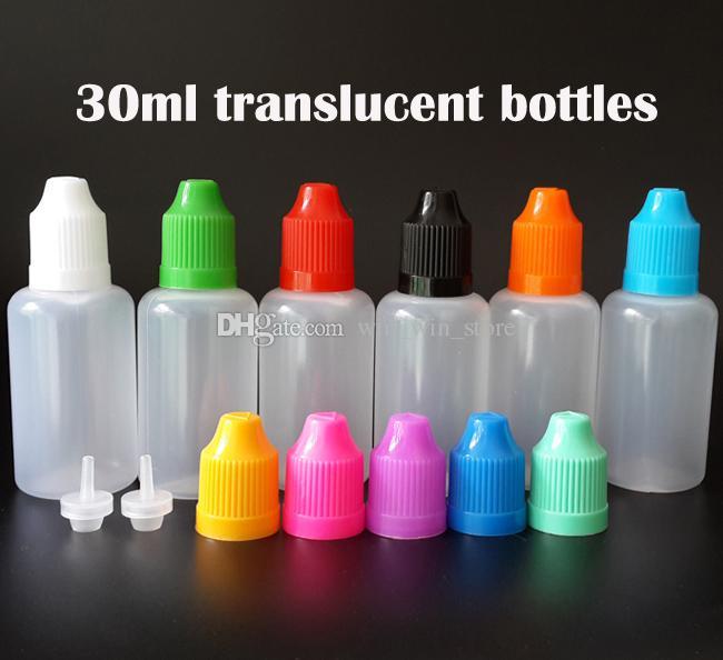 Leere E-Flüssig-Tropfflaschen 5ml 10ml 15ml 20ml 30ml 50ml Nadel Flasche mit Kindersicherung Caps und feine Spitzen für E vape Juice