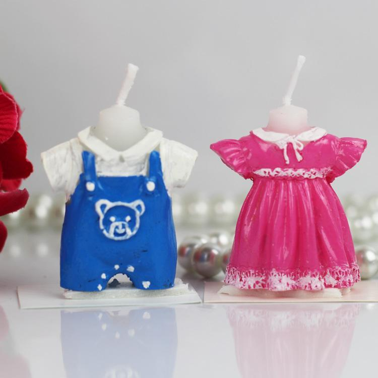 new arrival baby dress candle girl  boy clothes candles favor, Baby shower invitation