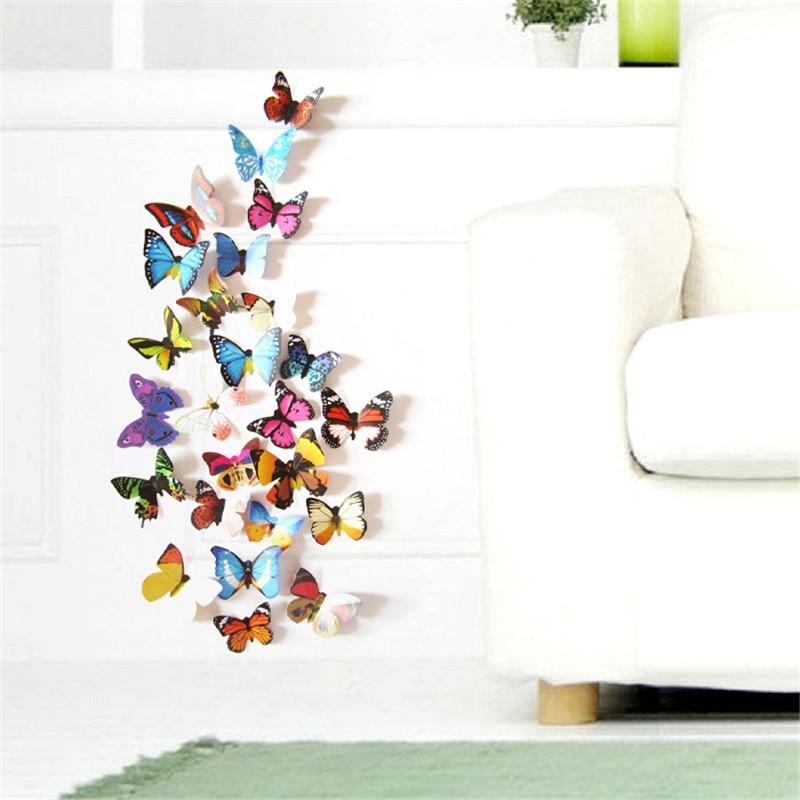 Elegant Colorful Design 3d Butterfly Wall Sticker Decor Butterflies Art Wall Art  Home Decor Wall Stickers Love Wall Stickers Murals From Jinwuoq855, $2.45|  Dhgate.