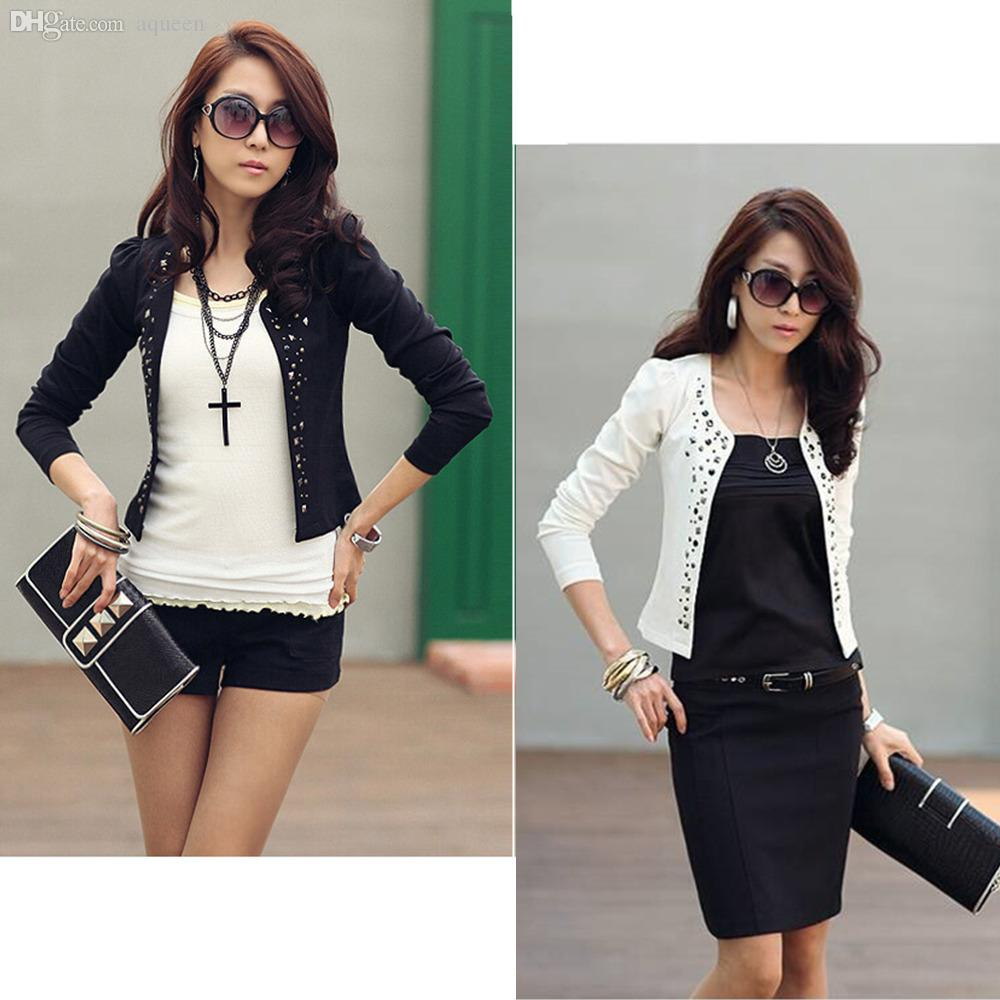 Wholesale Autumn Rivet Office Short Jacket For Women,2015 New ...