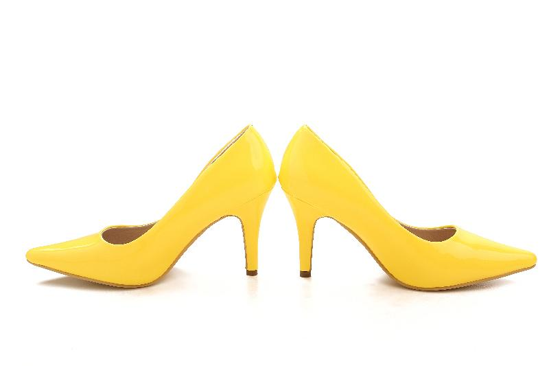 Yellow Shiny Bridal Wedding Shoes Girl High Heeled Nightclub Performances Prom Dy33049 No58 Size 2 Slingback From