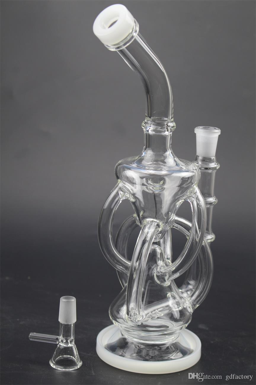 New glass bong glass three honey comb perk water pipe 14.5mm bowl 125