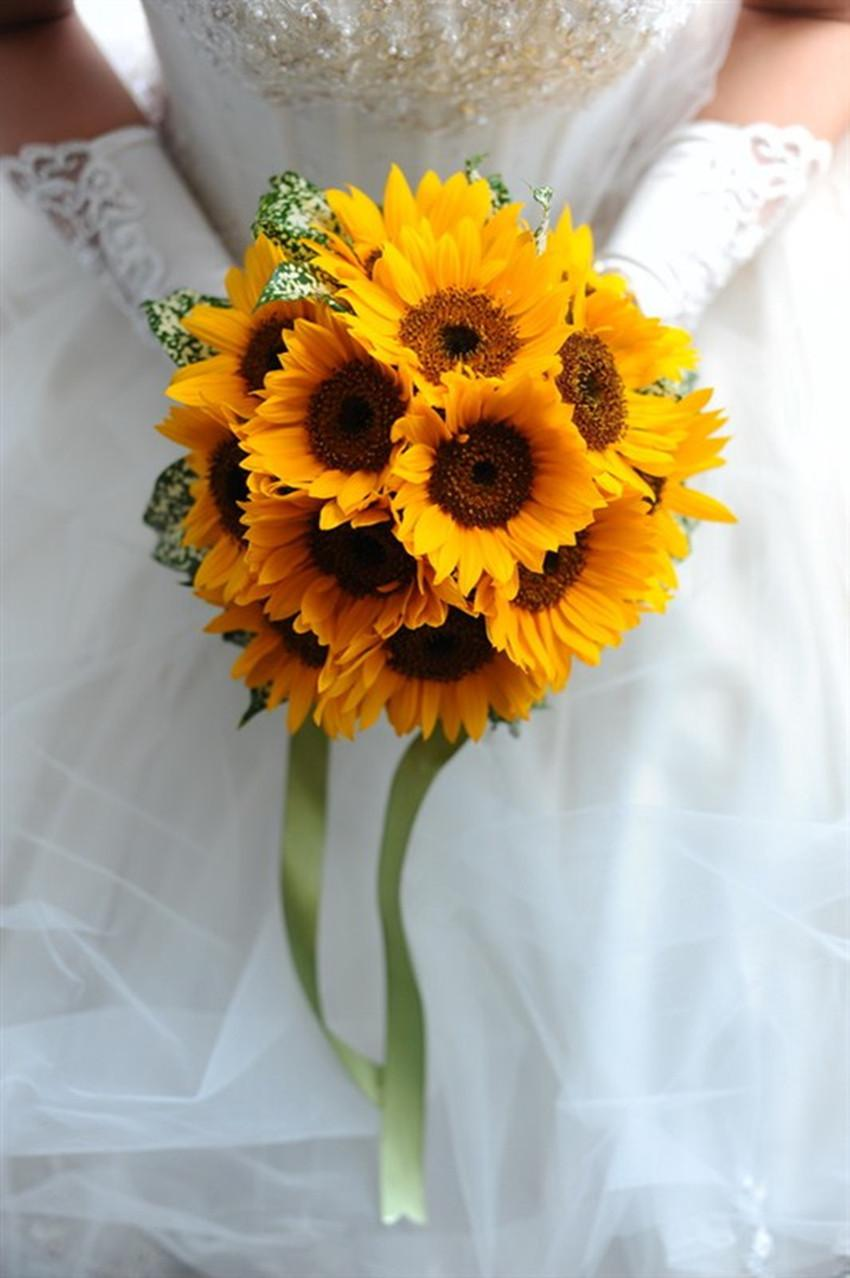 Artificial sunflowers wedding bouquets hot sale