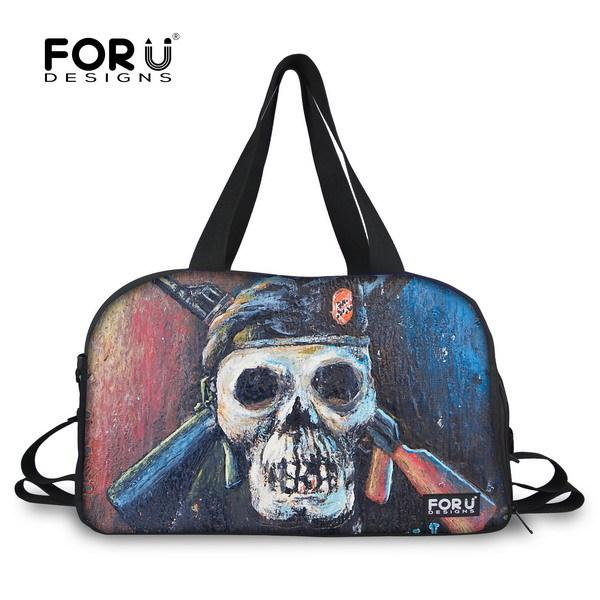 eb6de3a73a72 2015 New Design Portable Sport Gym Bag For Youth Skull Cool Print ...