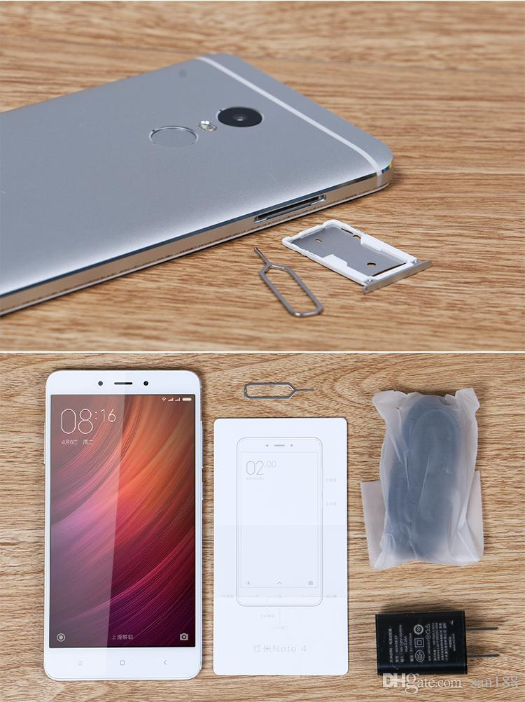 Deca core 4G network Ram 3G/4G Rom 32GB/64GB unlocked original xiaomi redmi note 4 smart phone inch 5.5 cell phone Android with WIFI GPS