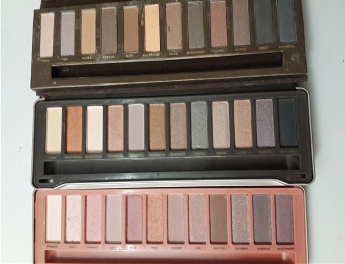 Maquiagem Em Estoque NUDE Paleta De Sombra De Olho Maquiagem Paleta De Sombra 1 2 3 12 Cores Sombra 3 Versões Caixa De Ferro Com Escovas