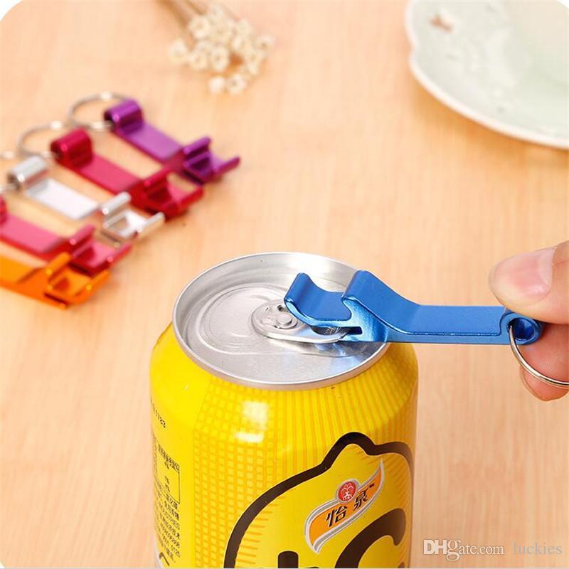 Beer Bottle Opener Keychain 4 in 1 Pocket Aluminum Beer Bottle Opener can Personalized Logo Wedding Favor Gifts