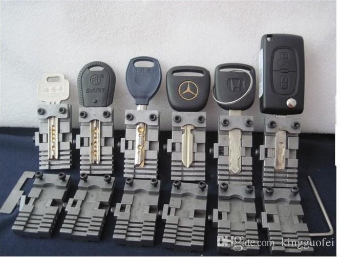 Evrensel Anahtar Makinesi Fikstürü Kelepçe Parçaları Kilitleme Araçları Özel Araba veya Ev Tuşları için Anahtar Kopyalama Makinesi için