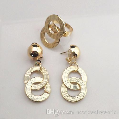 Najwyższej Jakości 18K Pozłacane ślubne Zestawy biżuterii ślubnej Elegancka Afrykańska Kobieta Zestaw Biżuterii 718