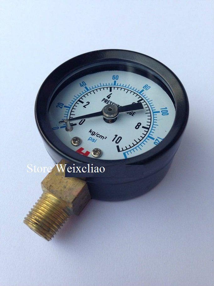Манометр 0-10 кг / 140psi 1 / 8PT для водяных насосов электрическая машина манометр манометр 1 лот 10 шт. Бесплатная доставка