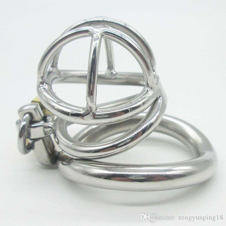 NEW Stainless Steel Super Small Male Chastity device Adult Cock Cage With Curve Cock Ring BDSM Sex Toys Bondage Chastity belt