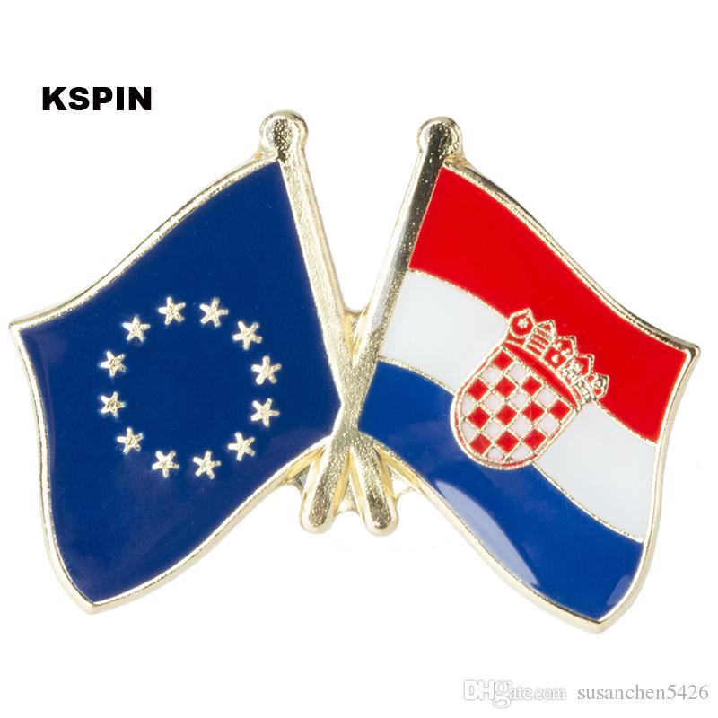 Bandera de amistad de Dinamarca europea Pin de bandera de insignia XY0074-2