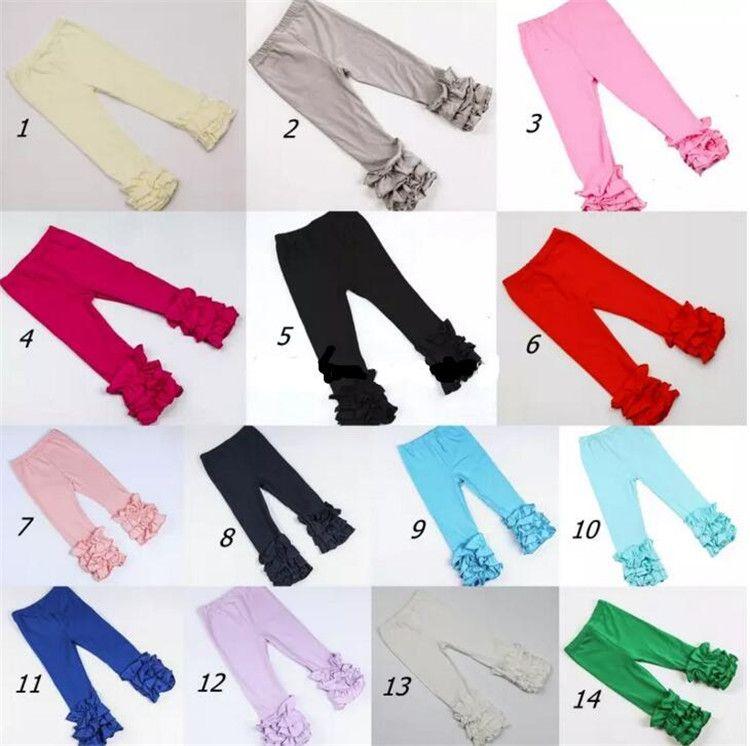Şükran Noel kız şerit fırfır pantolon Bebek Isıtıcı Tayt Tayt çocuk Pantolon pamuk Pantolon 28 renkler B11