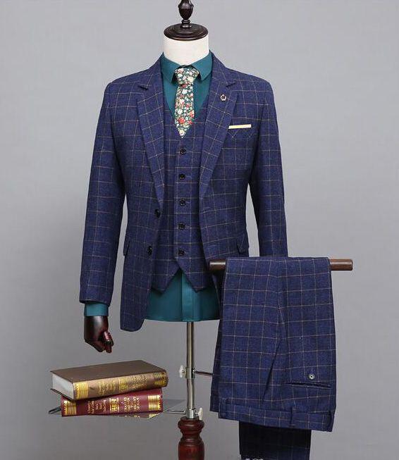 Neue ankunft Nach maß Zweireiher Hochzeit Anzüge Bräutigam Smoking schönen Anzug Formelle Anzüge Best Man Groomsman anzüge Jacke + Pants + Westen