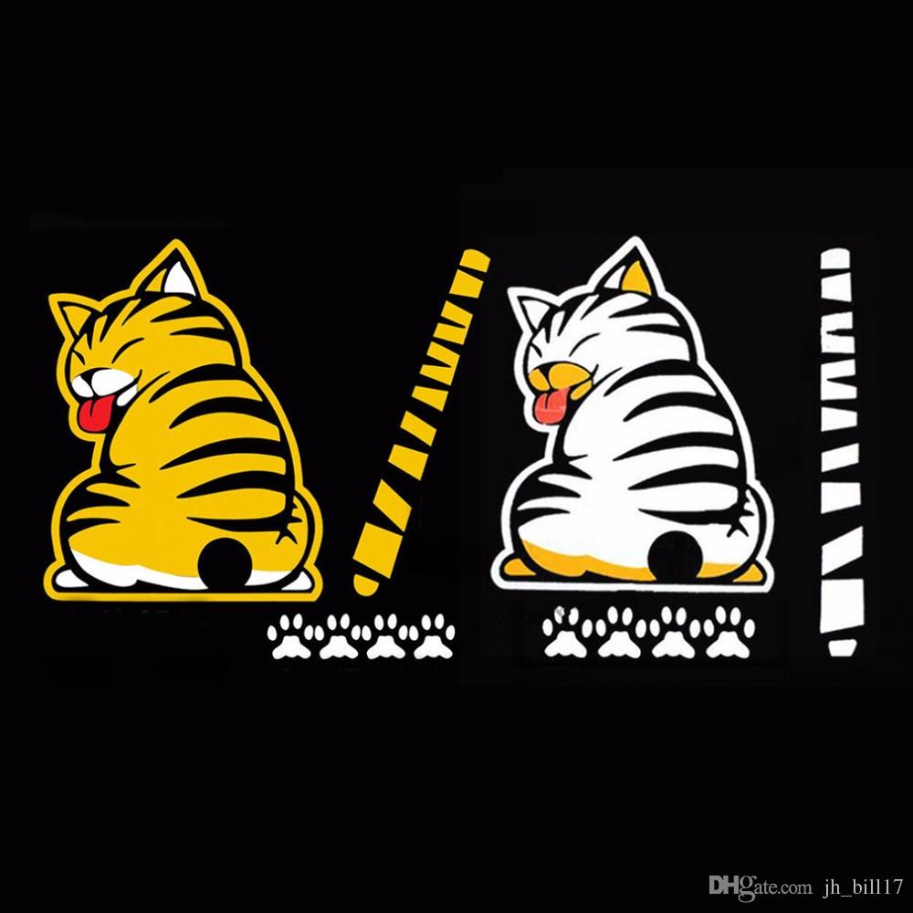 Funny Creative Cartoon Cat Decoration Moving Tail Stickers Auto Vehicle Window Wiper Decals Car Outside Windshield Sticker Decoration