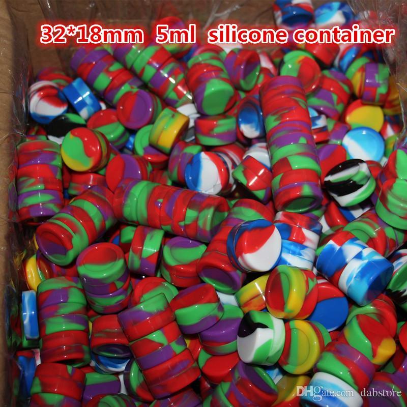 Recipientes de alimentos de silicone antiaderente de 5 ml recipientes de alimentos de silicone recipientes de silicone para cera de silicone recipiente antiaderente frete grátis