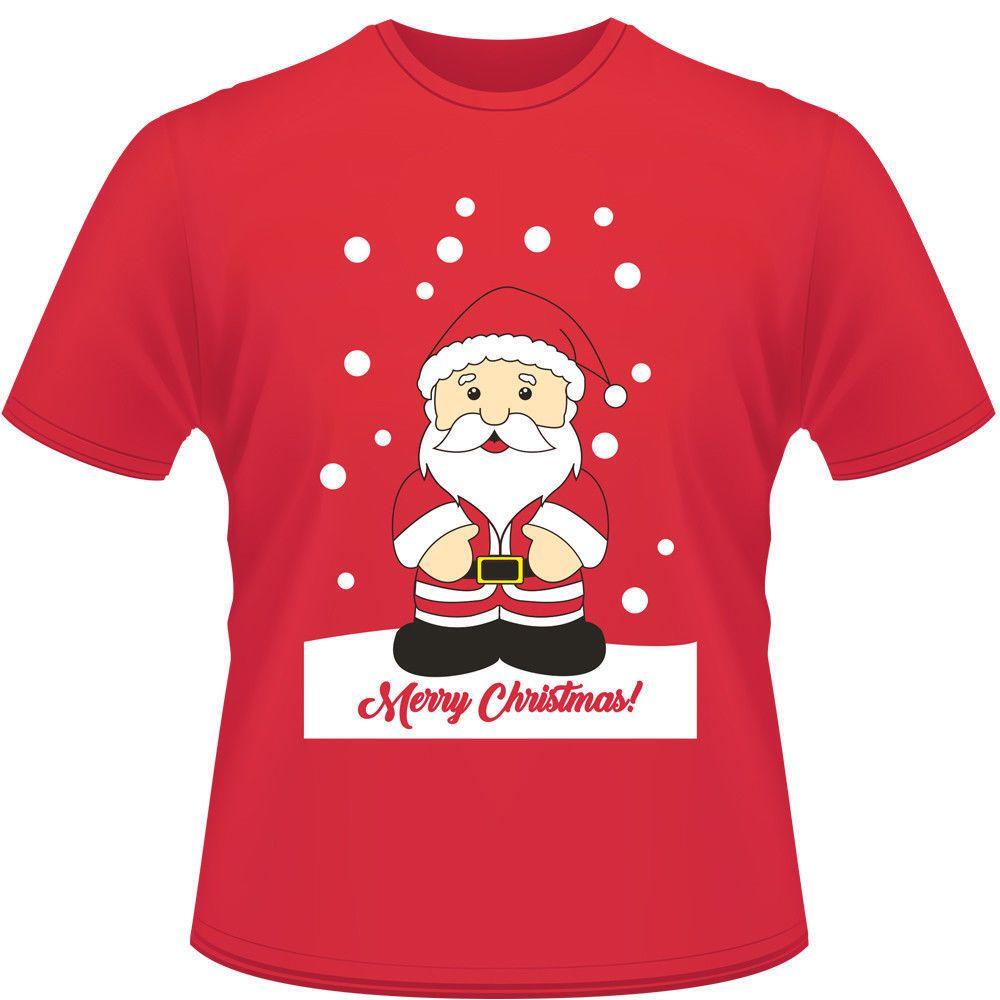 Noel Mens Womens Unisex Xmas Pamuk Kısa Kollu T Gömlek Santa Ren Geyiği Kardan Adam Baskı Xmas Hediyeler T-Shirt Tees Tops Giysileri
