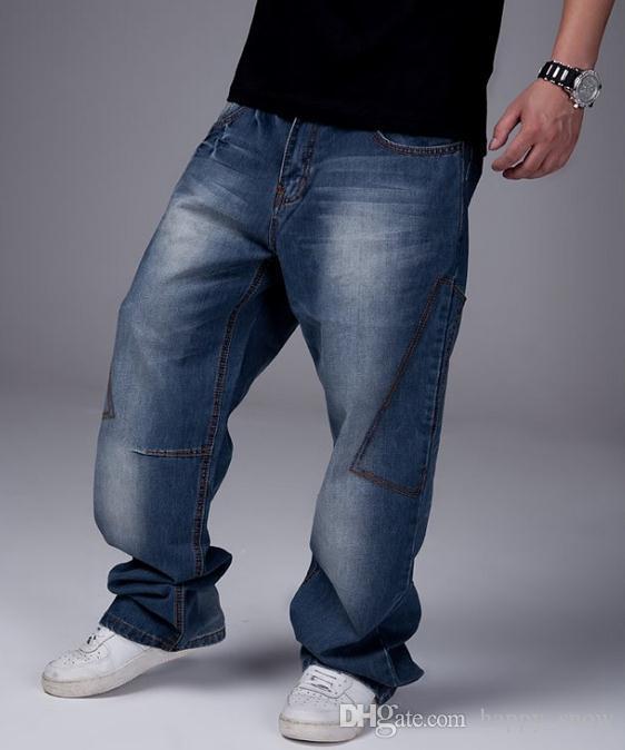 2015 nuova moda popolare skateboard pantaloni lunghi jeans larghi pantaloni hip hop il tempo libero pantaloni grandi dimensioni 30-46 -072 #