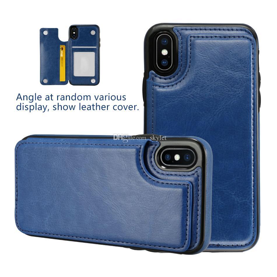 Kreditkarte-Schlitz-Fall für Samsung-Anmerkung 20 S20 PLUS PU-Leder-Schlag-Abdeckungs-Fall für iPhone 12 11 PRO MAX XS MAX XR 7 Plus mit OppBag