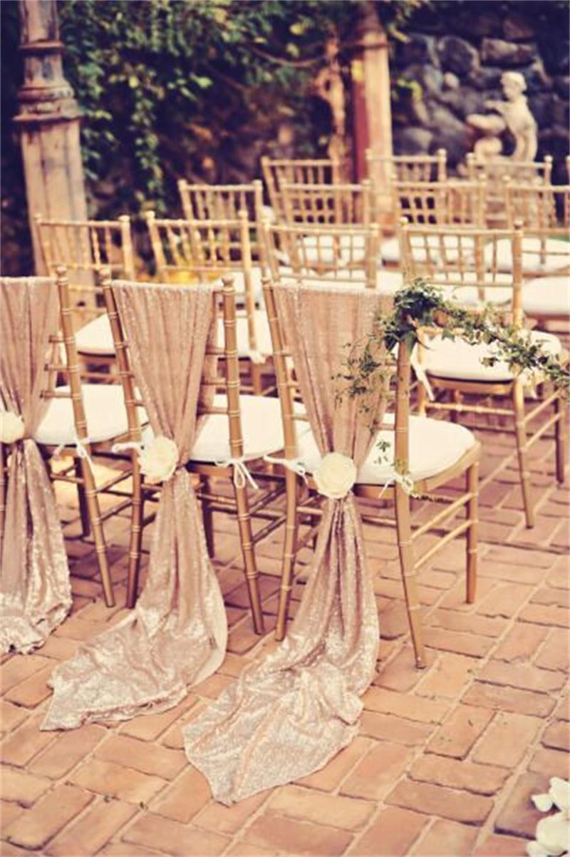 2019 Hot Selling Sequined Lace Wedding Chair Sashes Cheap
