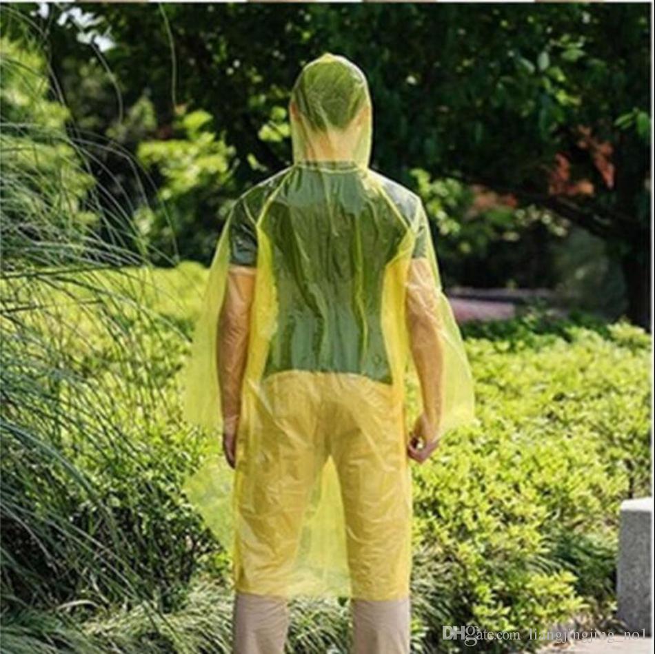 Disposable Raincoat Adult One-time Emergency Waterproof Hood Poncho Travel Camping Must Rain Coat Outdoor Rain Wear OOA3356