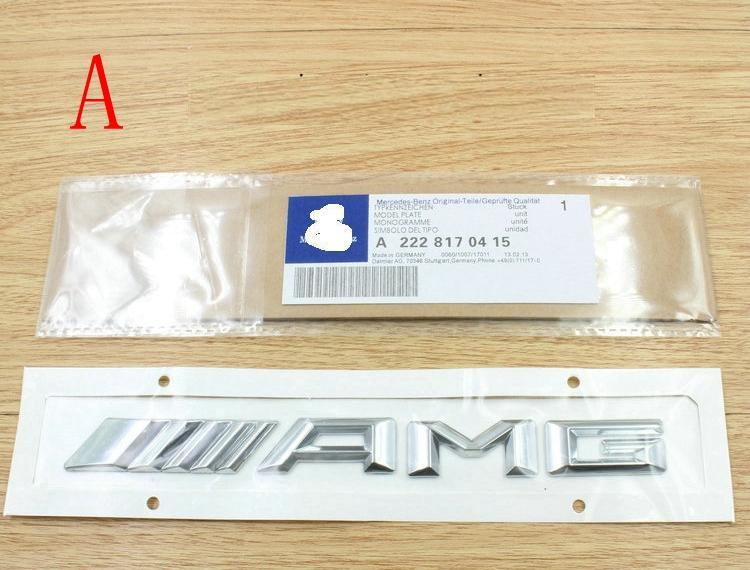 High quality 3D car badge sticker ABS AMG SLKGLSL class refit shark gills side trunk rear decal logo decorative stickers for Mercedes