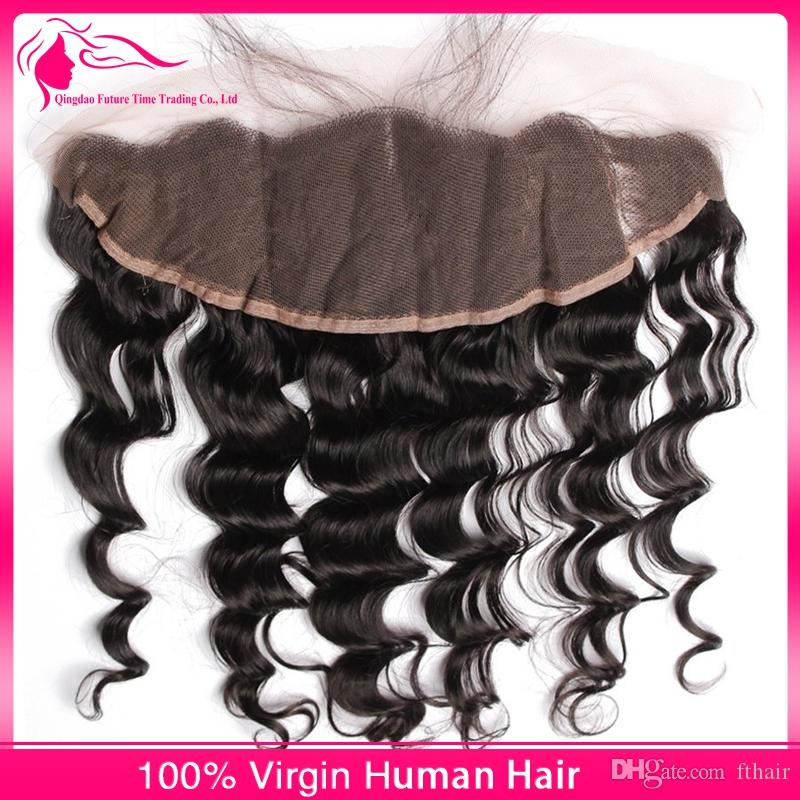 Malaysian Virgin Hair Loose Wave Lace Frontal Closure with Bundles Natural Color Free Parting Lace Frontals With Virgin Human Hair Weaves