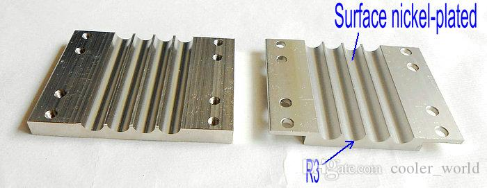 4 holes AMD platform aluminum plywood block for diameter 6mm heat pipe