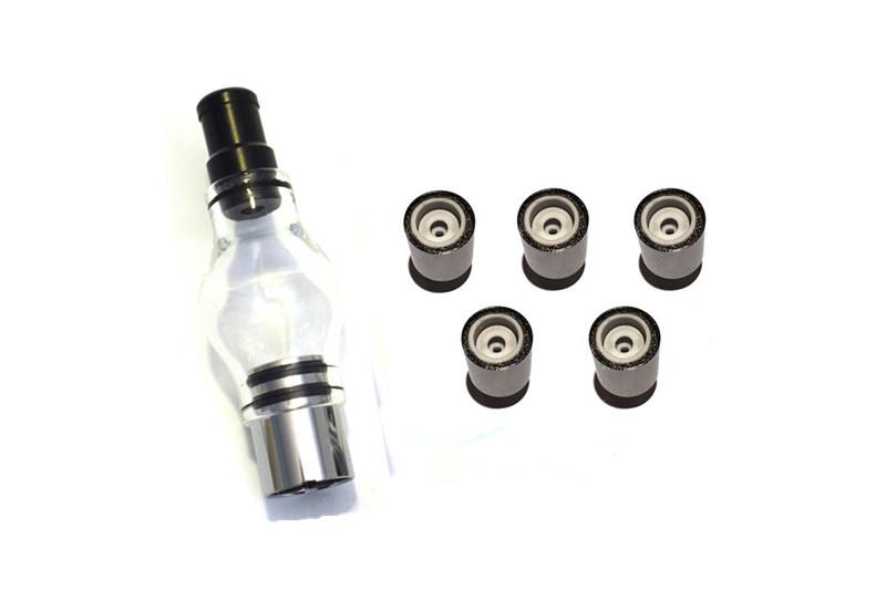 Ceramic Donut Coil Replacement for Steel Cannon Vase Wax Atomizer Glass Globe Vaporizer Dual Quartz Coil Replacement Source orb 3 Atomizer