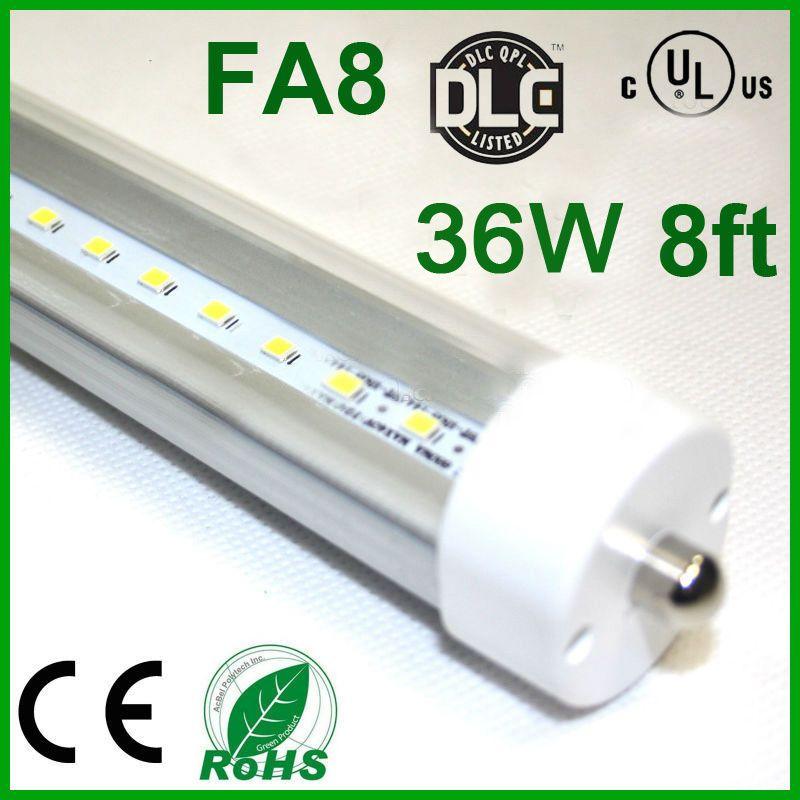 led tube lights 8ft t8 fa8 single pin led tube lights 36w 3600lm bulbs smd 2400mm 8feet replace led fluorescent tube lamps 85 265v neon light tubes