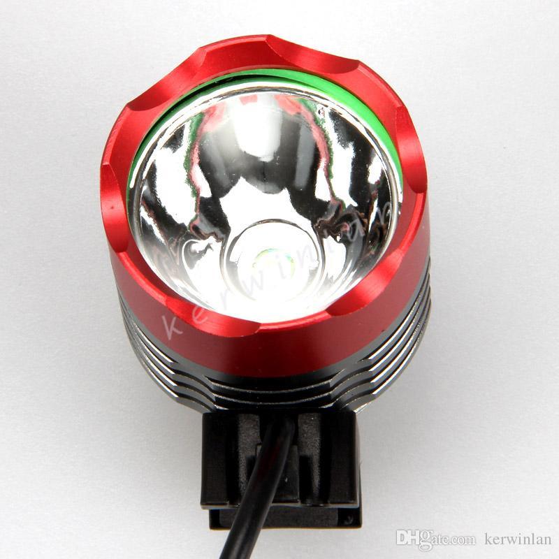 1800Lm CREE T6 LED 3 Modi Wiederaufladbare bunte Fahrrad Licht Scheinwerfer Scheinwerfer Lampe mit Akku Stirnband Ladegerät
