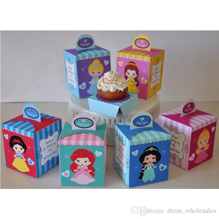 Decorative Cupcake Boxes Fascinating Princess Party Baby Shower Favor Box Cupcake Box Candy Box Review
