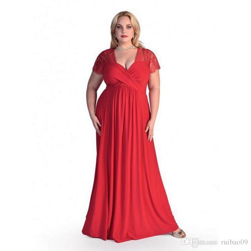2018 Women Elegant Sexy Lace Party Dress Plus Size 4xl 6 Xl Short ...