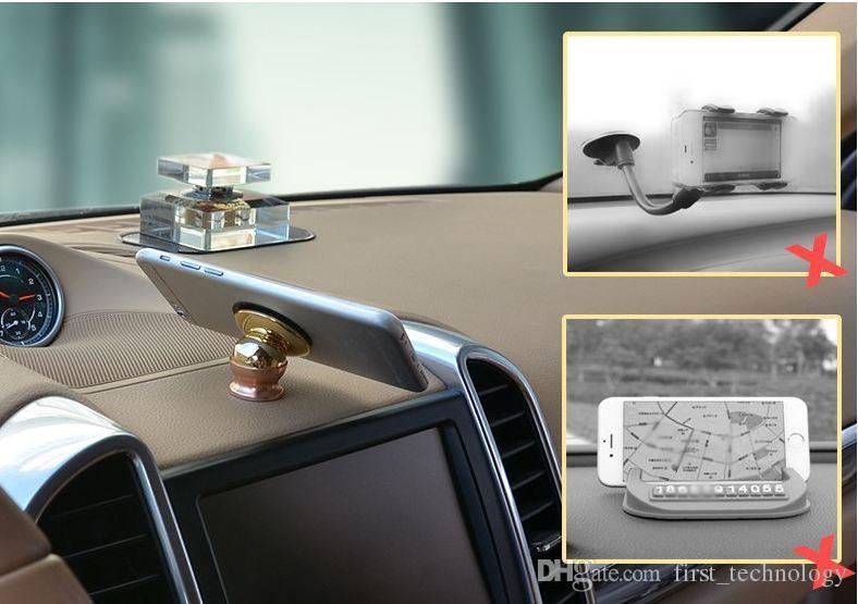 아이폰 X 8 7 6 플러스 삼성 유니버설 자기 자동차 마운트 키트 스티커 스탠드 홀더