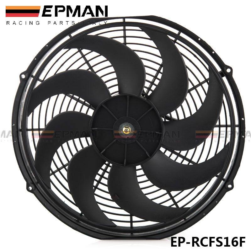"TANSKY - Epman Racing Car Universal 12V 16"" Electric Fan Curved S Blades Radiator Cooling Fan For Radiator Oil CoolerEP-RCFS16F"