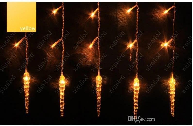 LED String Curtain Light Kolorowe Długie Lampa Lodowa Full Cooper Rdzeń Dekoracji Światło Dekoracji Na Boże Narodzenie Wedding HSA1340
