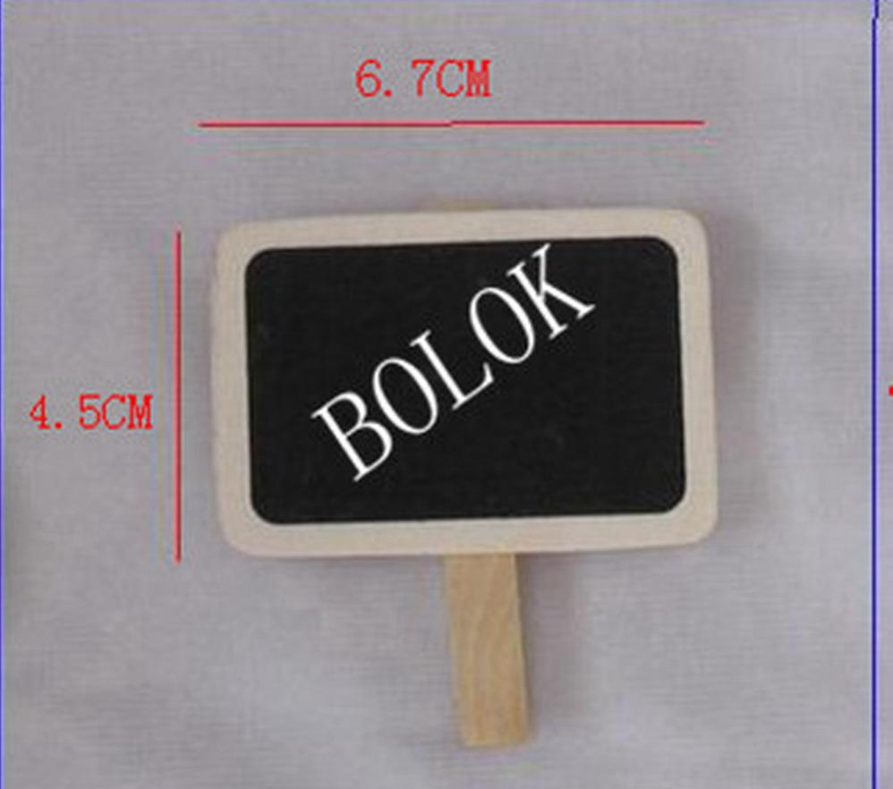 /lt Wholesale Wedding Small Rectangle Wooden Blackboard Chalk Board Peg , Chalkboard Clips
